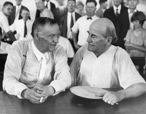 Clarence Darrow (l) and Wm. Jennings Bryan